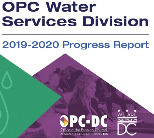 OPC Issues Year-1 Progress Report on its Water Services Division