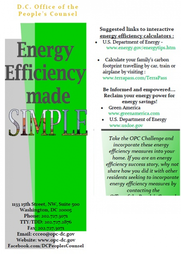 Energy Efficiency Made Simple: Tips and tactics you can use to start saving right away on your energy services.